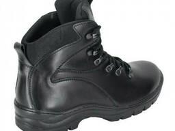Ботинки зимние кожаные Тактик черные