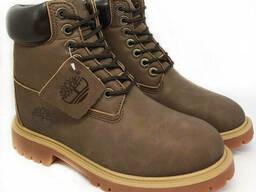 Ботинки Timberland Мужские Зимние с мехом Коричневые