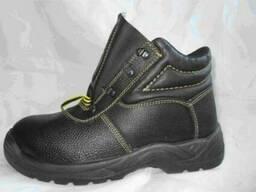 Ботинки юфтевые на ПУП , c металическим носком