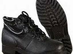 Ботинки юфтевые с мягкой вставкой на полиуретановой подошве
