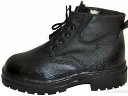 Ботинки юфть/кирза утепл. (клеепрошивные, МБС)
