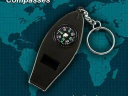 Брелок компас свисток термометр