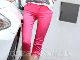Бриджи женские розовые джинсовые размер S (27 (укр. 44)