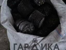 Брикеты из шелухи с угольной пылью, мешок 30кг