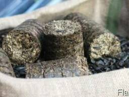 Брикеты из лузги подсолнечника от производителя с доставкой