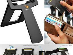 Бритва-кредитка Carzor с запасными лезвиями