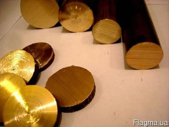 Бронзовый круг марка БрАЖ9-4 Диаметр 18,0 мм