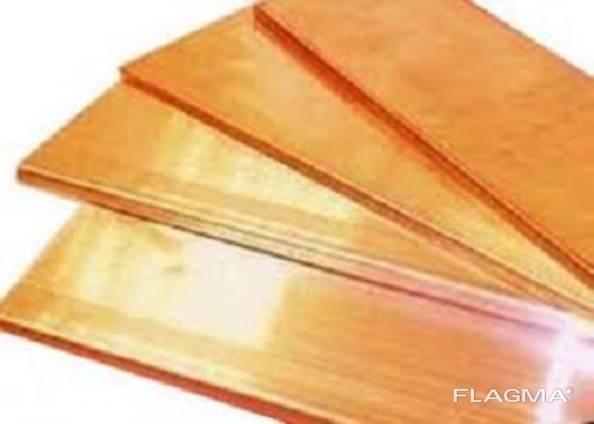 Бронзовый лист БрБ2 мяг/тв 2х400х500