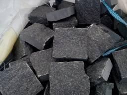 Бруківка гранітна пиляно-колота чорна