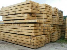 Брус деревянный для стрелочных переводов