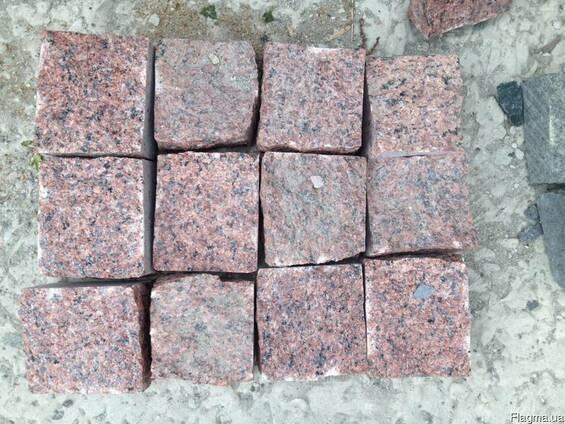 Брусчатка гранитная колотая Лезники 10*10*5 от производителя