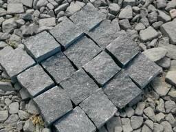 Брусчатка колотая гранитная, тротуарная плитка из натурально