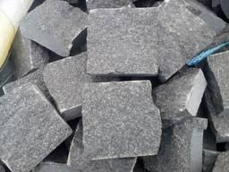 Брусчатка колотая серая из камня 10х10