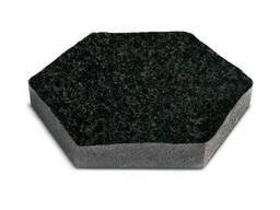 Брусчатка шестигранник (черная) габбро