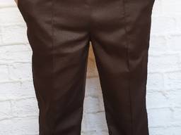 Брюки медицинские мужские с карманами коричневые