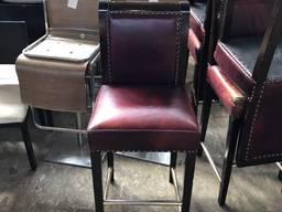 Бу кожаные барные стулья
