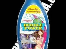 Bubble Power рідина для миття посуду з ароматом яблука 0,5л