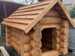 Будка для собак зруб дерев'яний ( брус , рейка , доска)
