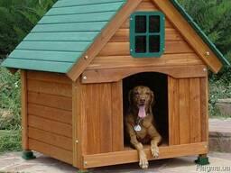"""Будка для собаки """"Фински"""" из термодревесины"""