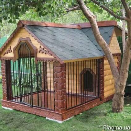 Будка-вольер для собаки