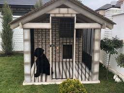 Будка-вольер для собаки. Собачьи будки теплые