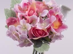Букет микс розовый 27 см Цветы искусственн