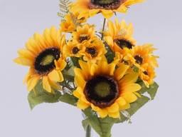 Букет Подсолнухов с большими и маленькими цветочками Цветы и