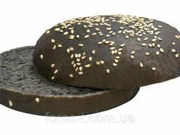 Булка для бургера черная 82 мм с кунжутом