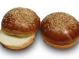 Булочка Бриошь для бургера с кунжутом #булка для бургера