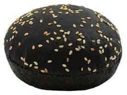 Булочка черная для гамбургера 70 ф с кунжутом