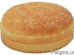 """Булочка """"Для гамбургера пшенична 120"""" з кунжутом"""