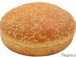 """Булочка """"Для гамбургера пшенична 80"""" з кунжутом"""