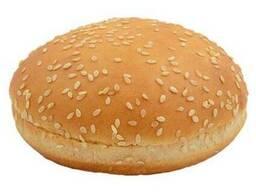 Булочка для гамбургера пшеничная с кунжутом 50г 10см