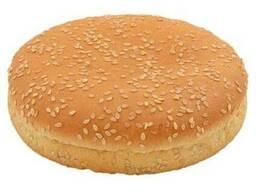 Булочка для гамбургера пшеничная с кунжутом 50г 11см