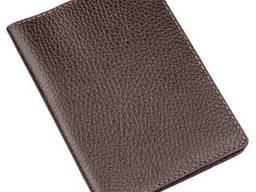 Бумажник-обложка для паспорта Shvigel кожаная Коричневая. ..
