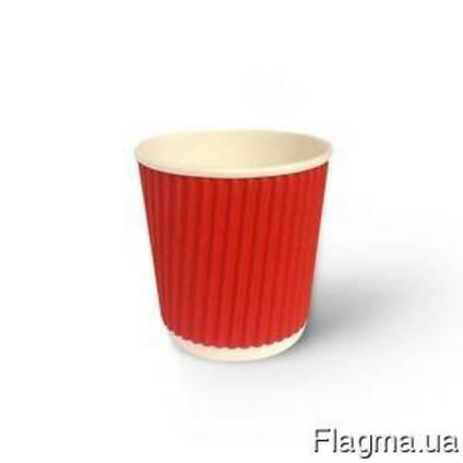 Бумажный Стаканы ripple ( Гофрированный цветной ) - 110мл
