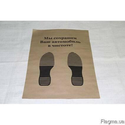 Бумажные коврики для авто