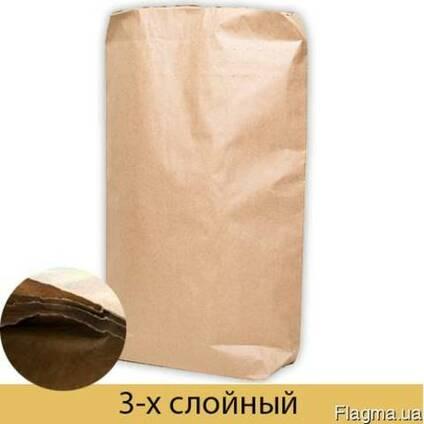 Бумажные мешки трехслойные