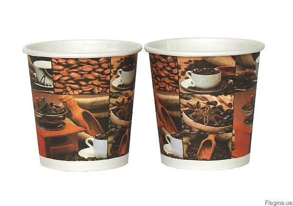 Бумажные стаканы 182 мл цветные