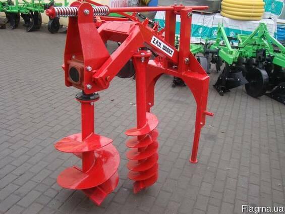 Бур навесной к трактору Wirax - 2 шнека (50 см, 25 см) (Поль