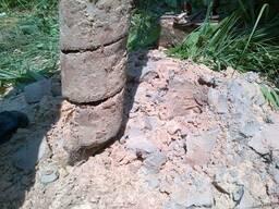 Бурение скважин под сваи переносной установкой Забивка Свай