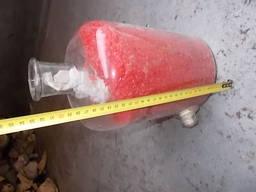 Бутиль скляний лабораторний з нижнім зливним краніком 5 літрів.