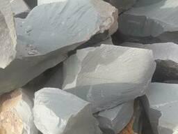 Бутовый камень цеолит зеленый