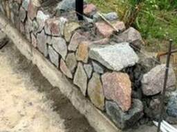 Бутовый камень для фундамента цоколь забора Киев область