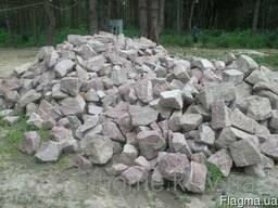 Камень бутовый гранитный, бутовый камень,