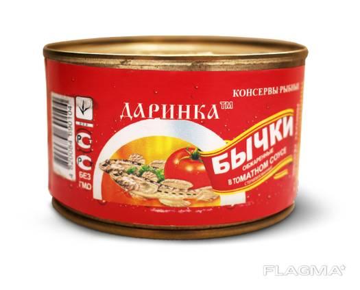 Бычок в томатном соусе.