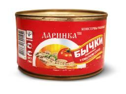 Бычок в томатном соусе. Бички у томатному соусі.