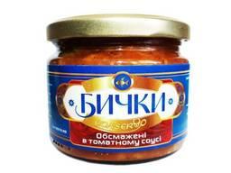 Бычки обжаренные в томатном соусе твист-офф./0,330л
