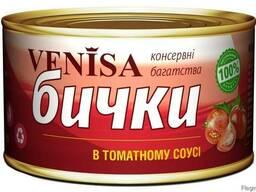 Бычки в томатном соусе, 240г.