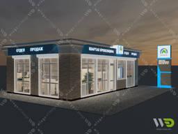 Быстромонтируемое здание (БМЗ), отдел продаж, малый офис.